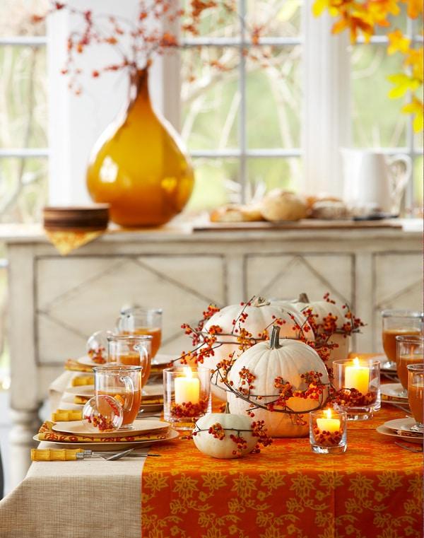 Thanksgiving table DIY centerpiece