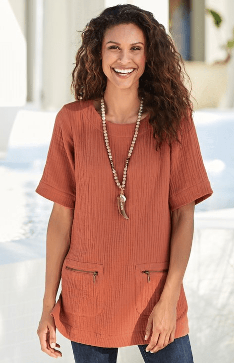 comfy tunic top from soft surroundings