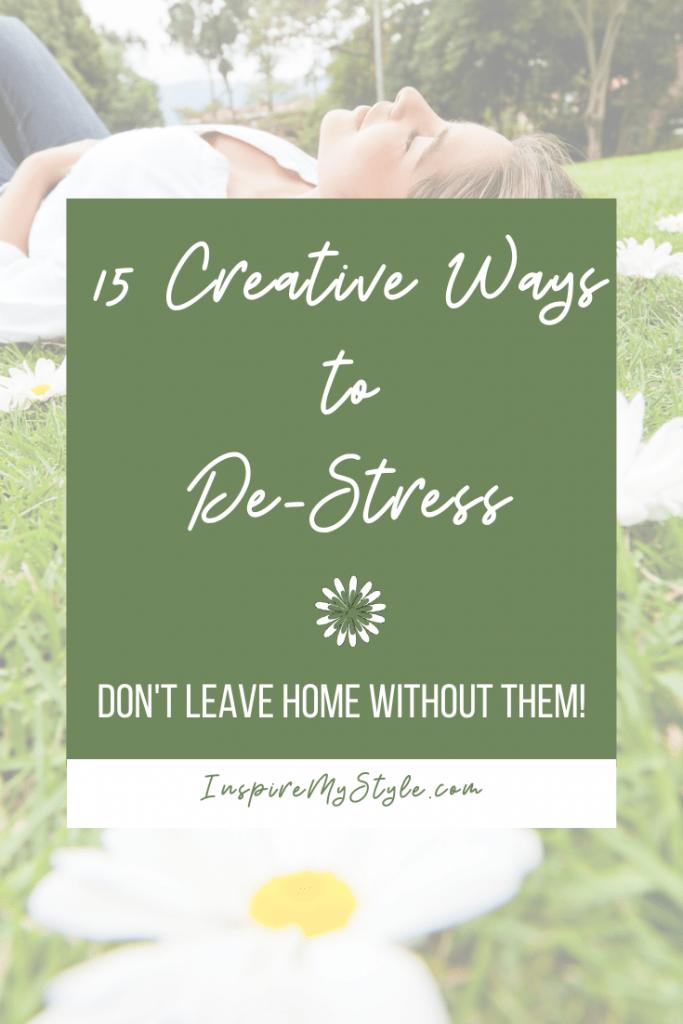 15 creative ways to reduce stress