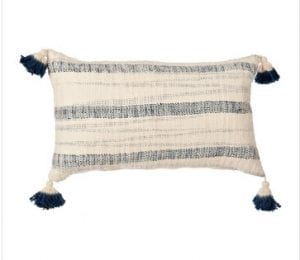 Nay Striped Tassel Pillow
