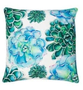 Maribella Colorful Succulent Pillow