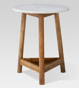 Lanham Marble Top Side Table