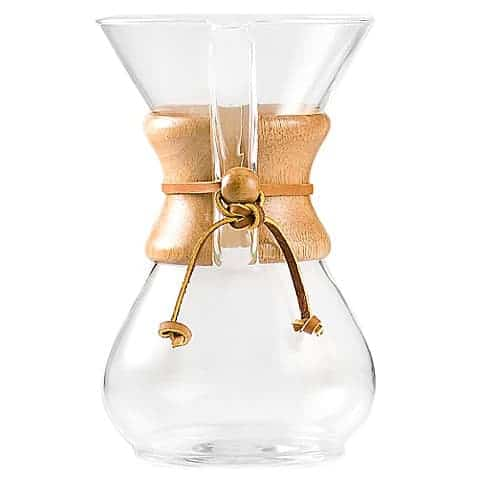 Chemex 6 cup pour over coffee maker