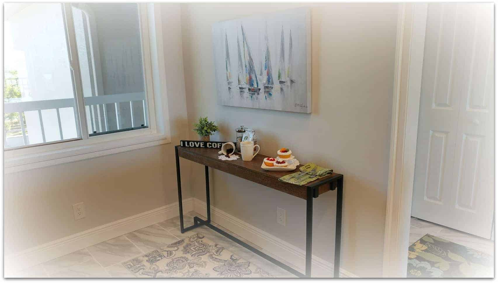 ideas for decorating a console table