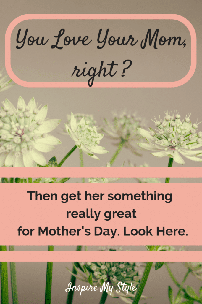 You Love Your Mom, right? Then get her something really great for Mothers Day. Look Here.