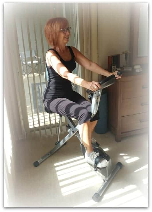 Fitness After 60 | Riding a Stationary Bike to stay in shape. Exercise for a 60 year old female.