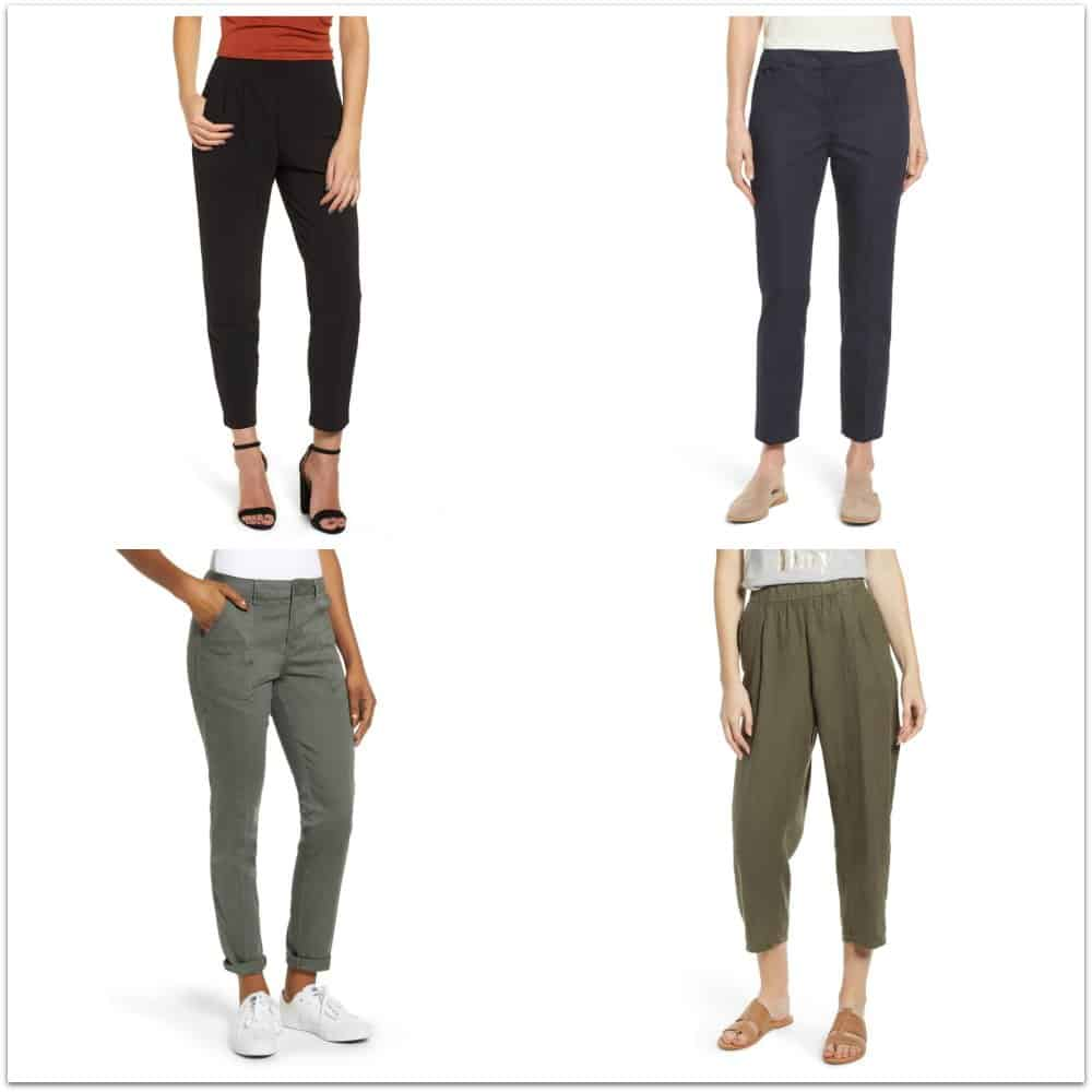 Casual slacks and cropped pants from Nordstrom