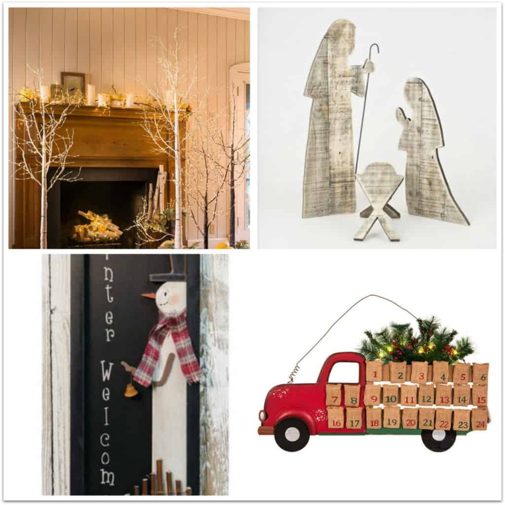 farmhouse style christmas holiday decor ideas 1