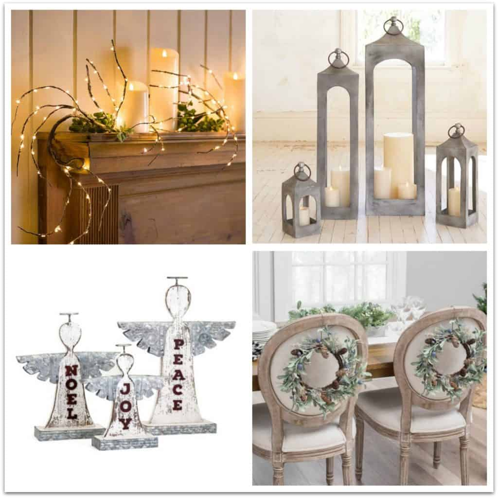 farmhouse style christmas holiday decor ideas 2