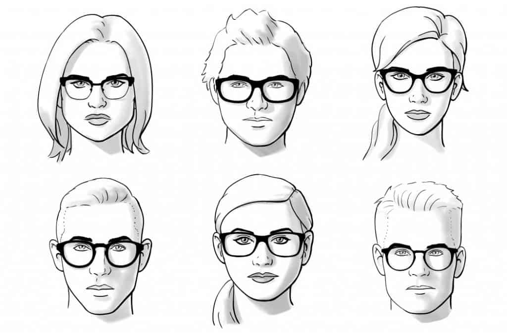 How to select glasses based on your face shape