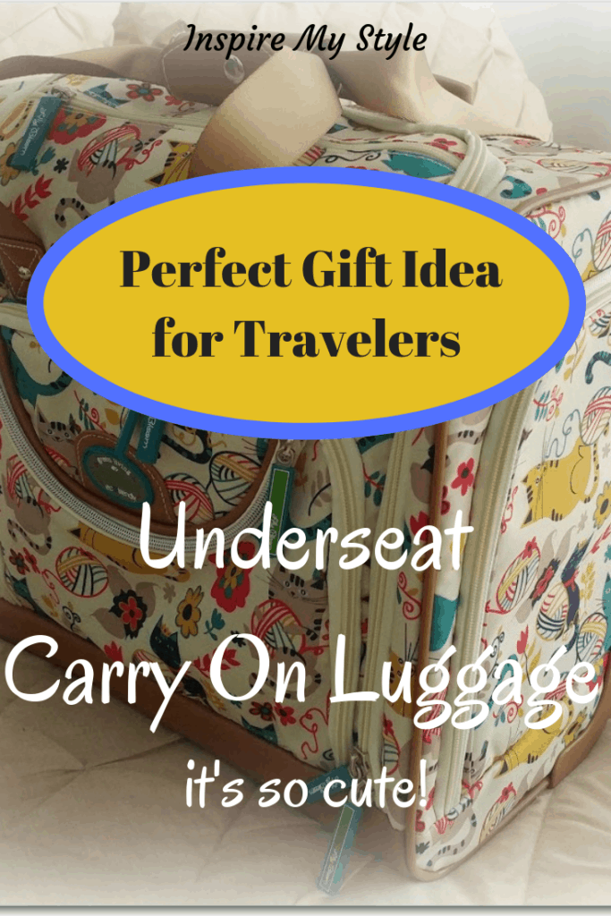 Best Holiday Gift Idea, the cutest underseat carry on luggage! Perfect for traveling or transporting documents and important stuff. Many sizes and patterns. #underseatluggage #carryon #giftidea #travelers #luggage #carryon #undertheseat