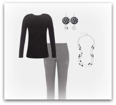 black white houndstooth slacks outfit