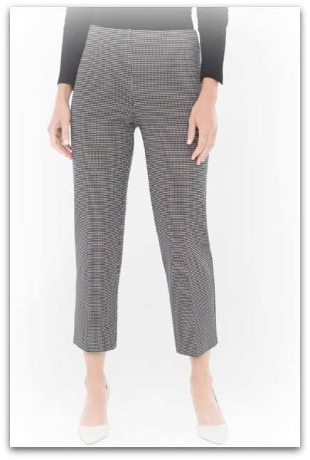 black white houndstooth slacks