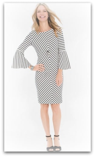 Flare Sleeved Dress Chicos