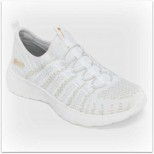 skechers tennis shoes kaylee metallic lace up
