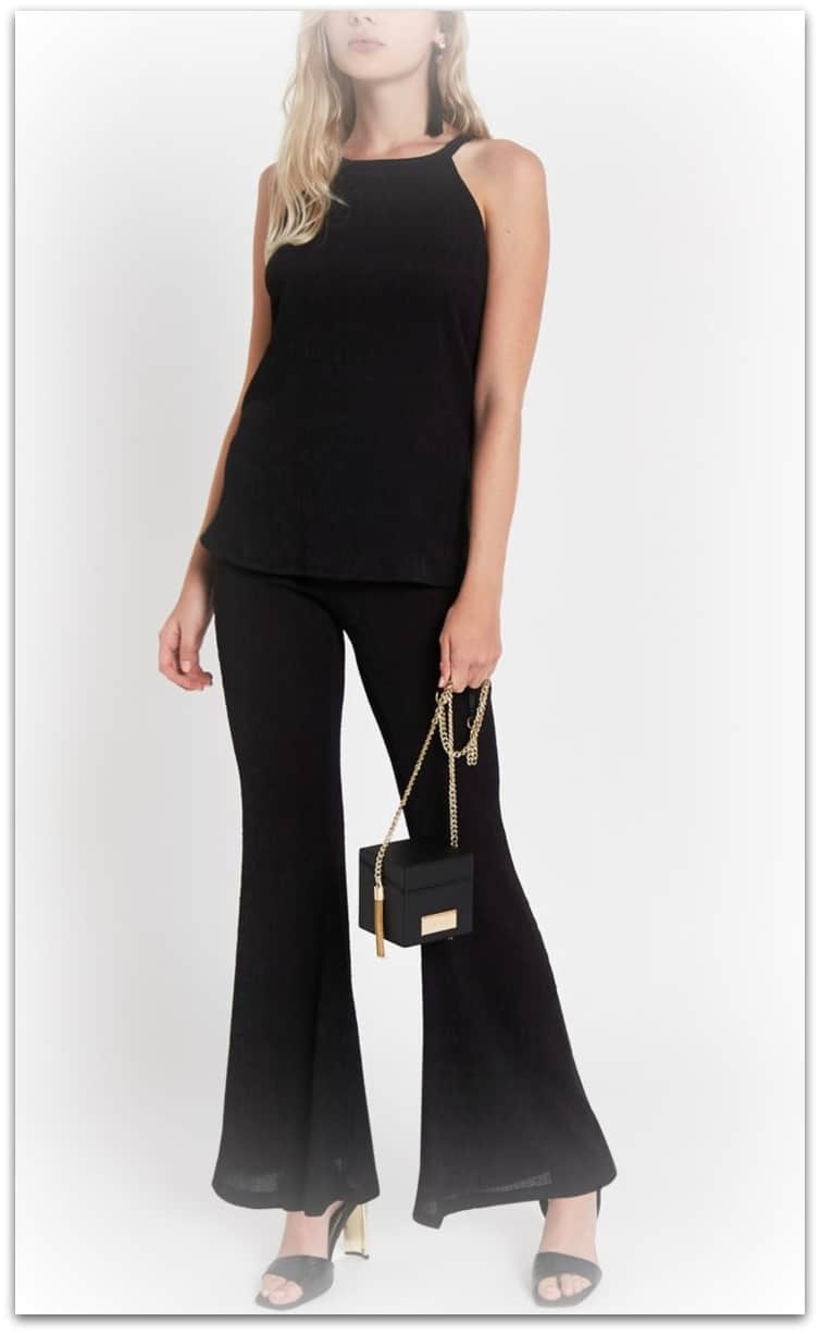 River Island Textured black top and pants coordinates