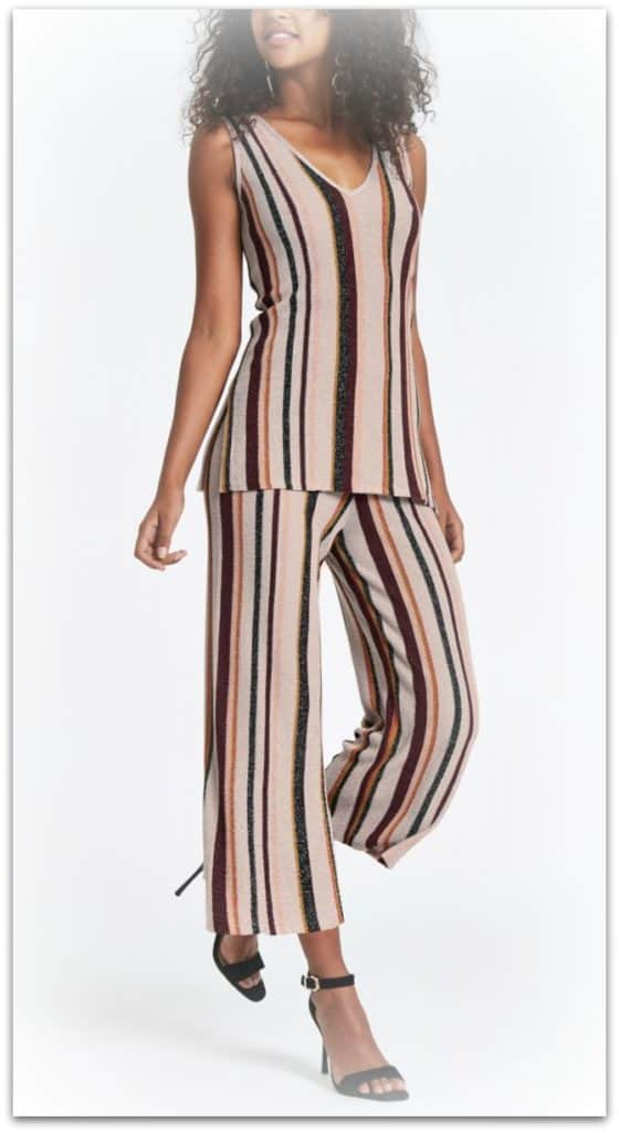 River Island striped coordinate outfit