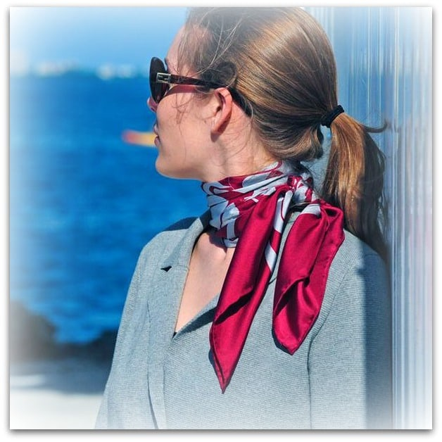 classic french knot parisian scarf