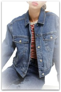 boxy crop denim jacket from Nordstroms
