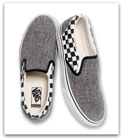 vans shoes plaid slip on