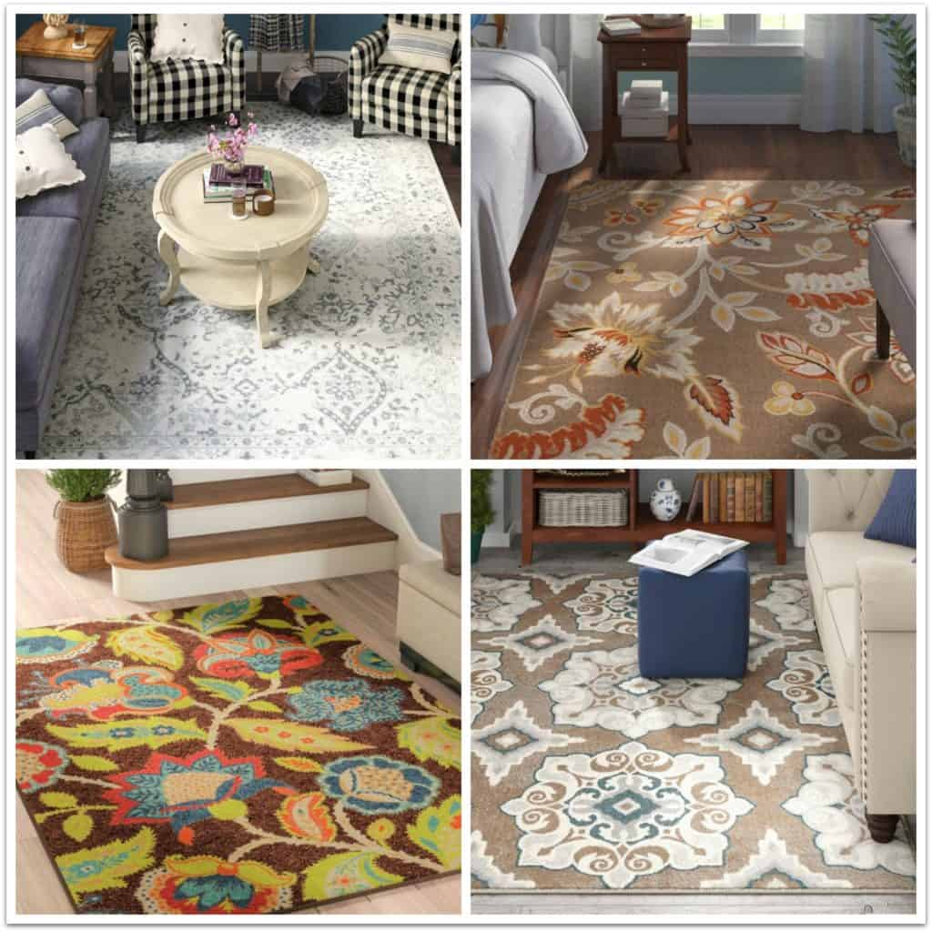 Autumn inspired area rugs from Wayfair