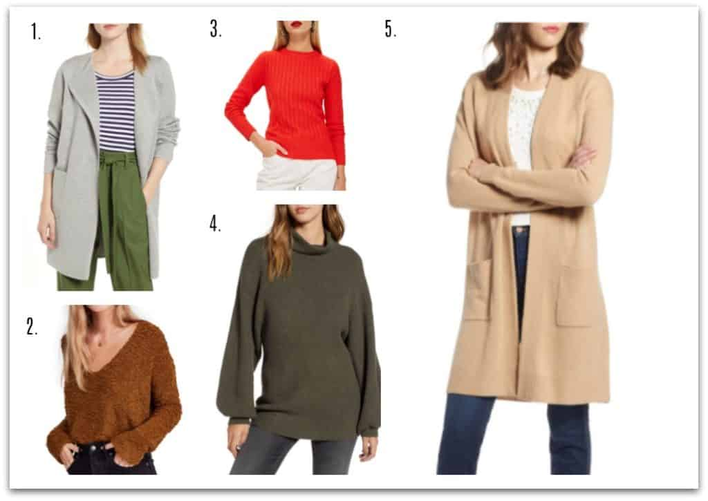 Winter wardrobe must-haves - sweater or cardigan