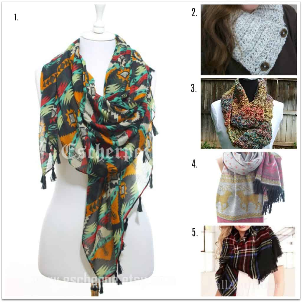 winter season must haves - handmade scarves from etsy