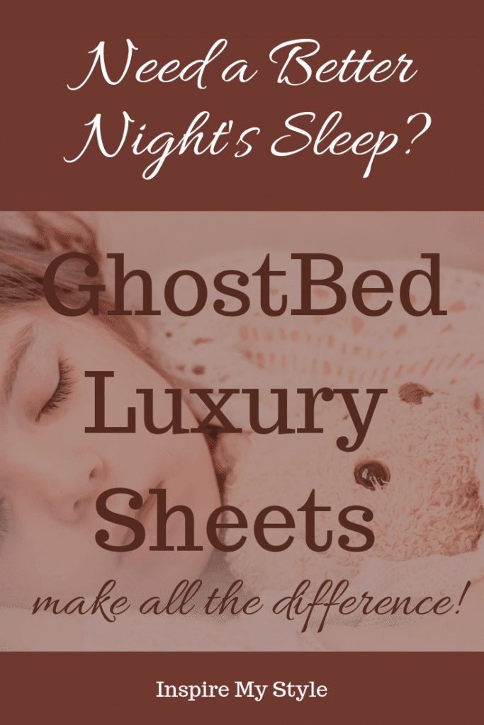 GhostBed Luxury Sheets for the best night's sleep! You won't believe the difference a quality set of bedding makes. #ghostbed #luxurybedding #ecofriendly #luxurysheets