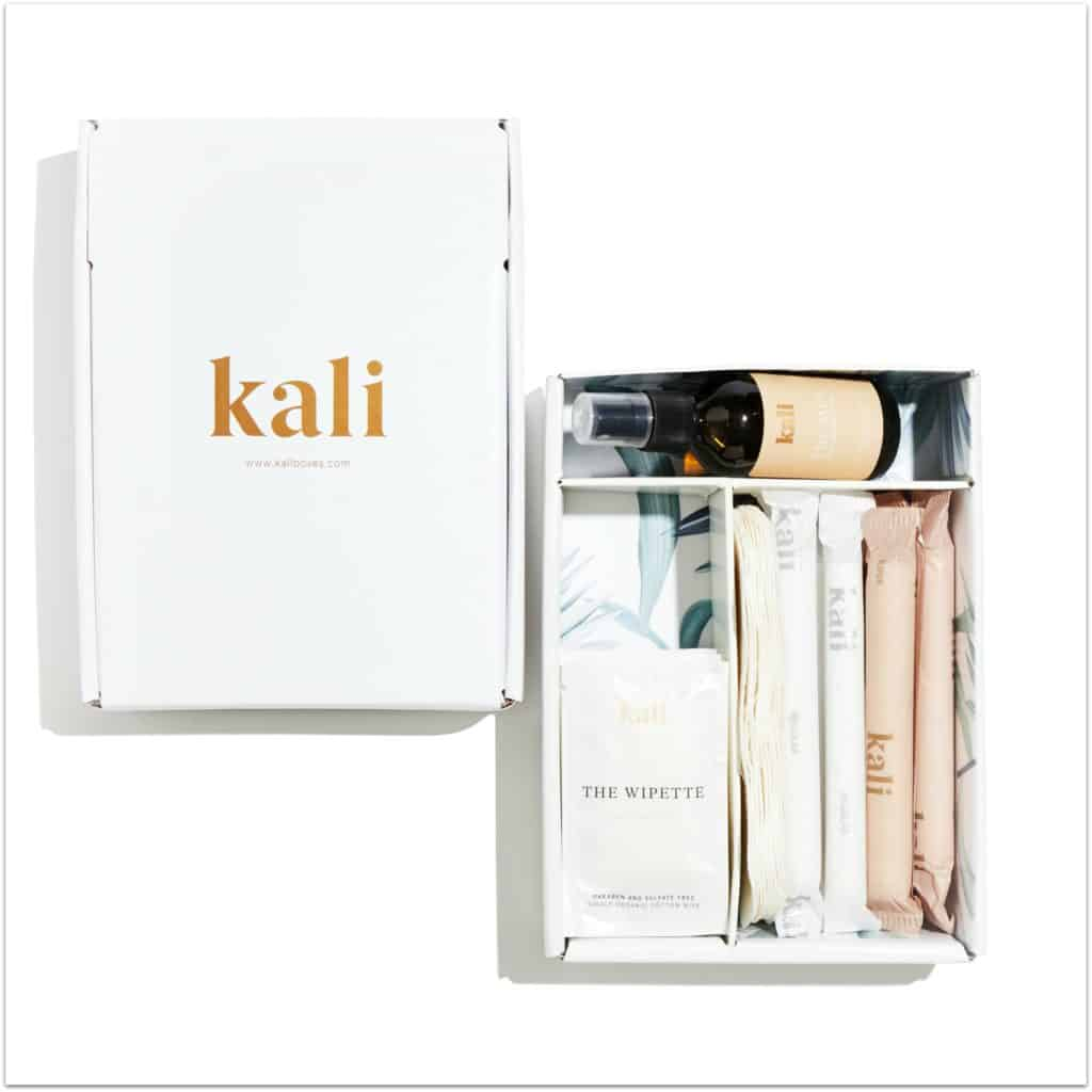 organic tampon box from Kali Boxes