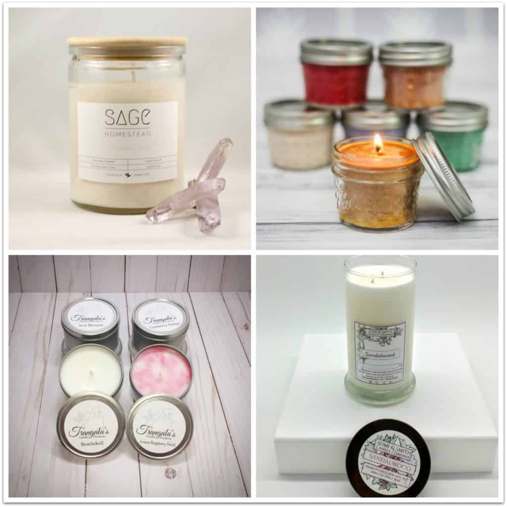 Handmade soy candles from Etsy