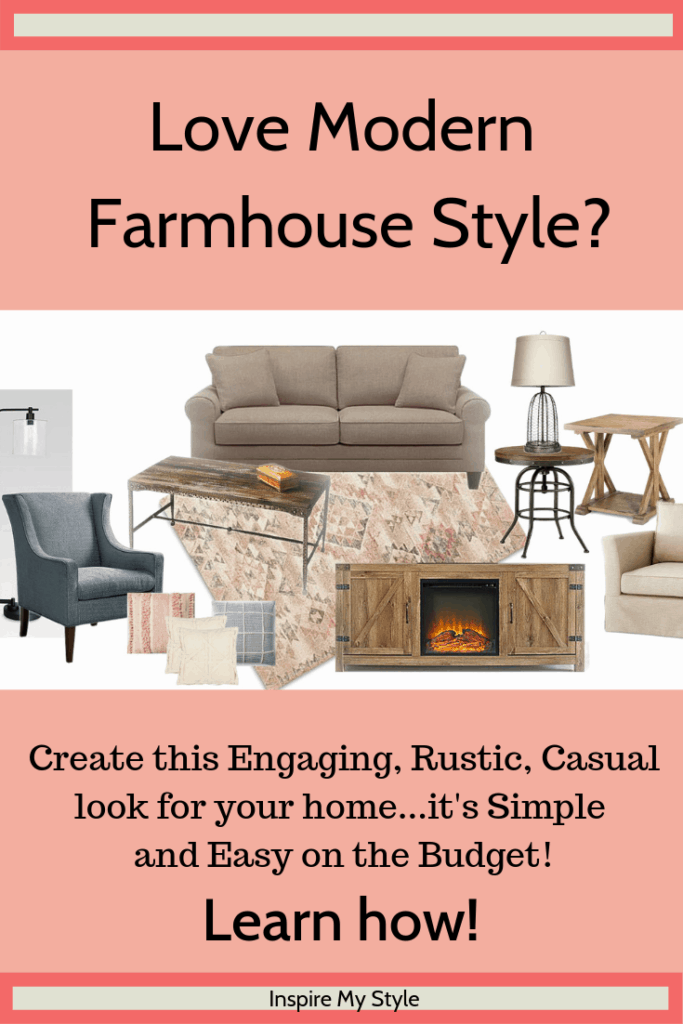 Modern Farmhouse Style decor that is so easy to create, with budget friendly, casual selections from Target, Kirklands and more! Start creating the home you love today. #farmhousestyle #modernfarmhouse #budgetfriendly #diyhomedecor #target #kirklands #rustic #casual #homedecor
