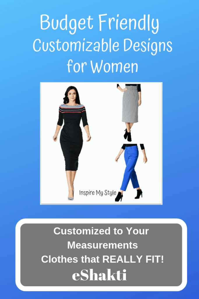 Budget friendly customizable designs for women from eShakti. You'll be amazed at the affordability and versatility of these fashions for women. They can be made to fit you perfectly! Find out how easy it is. #eShakti #womensfashion #customizablewomensclothing #budgetfriendlyfashion