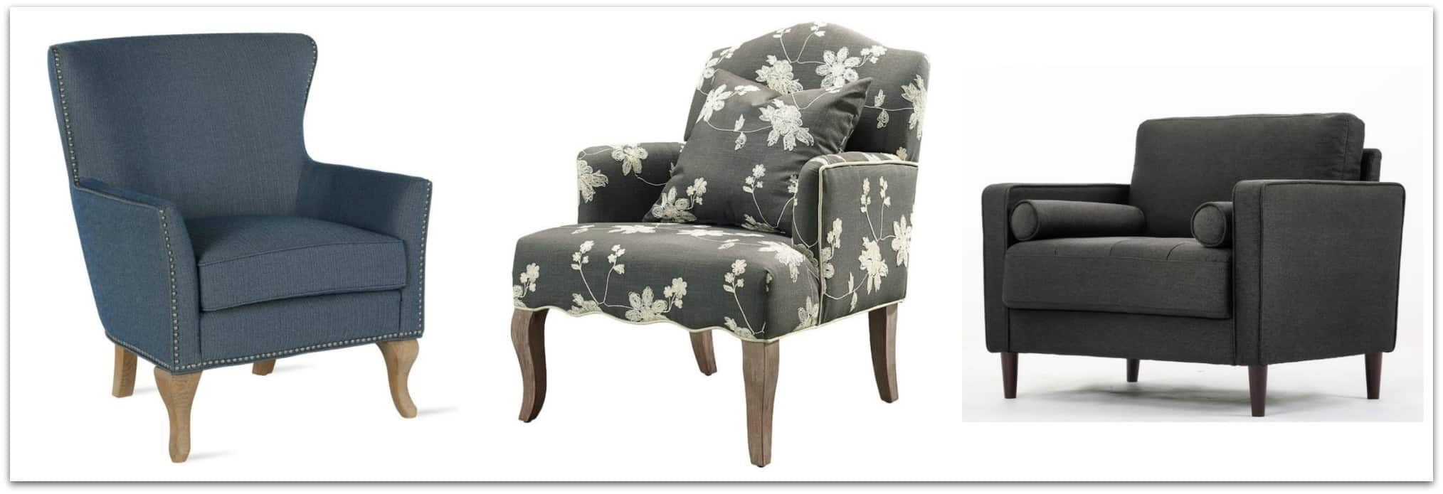 Accent chairs that would look great in a Transitional Style home