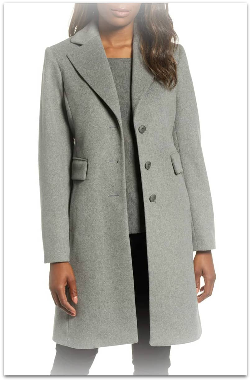 wool blend walking coat - nordstrom
