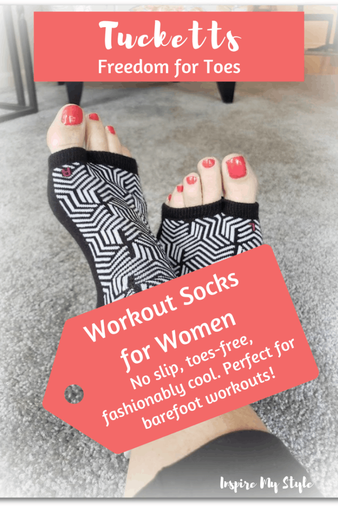 Tuckets workout socks for women, the awesome way to protect your feet for barefoot workouts like Pilates, barre, yoga, martial arts and more.