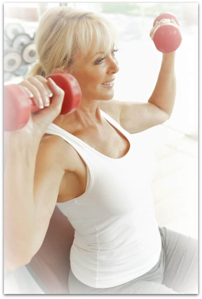 A healthy morning routine includes time for a workout as a woman over 50.