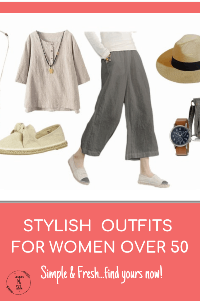 Stylish clothes for women over 50 and over 60.