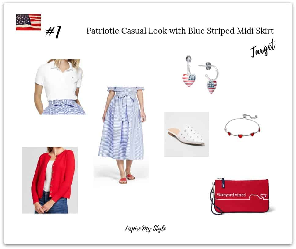Cute and casual 4th of July outfit idea for women over 60