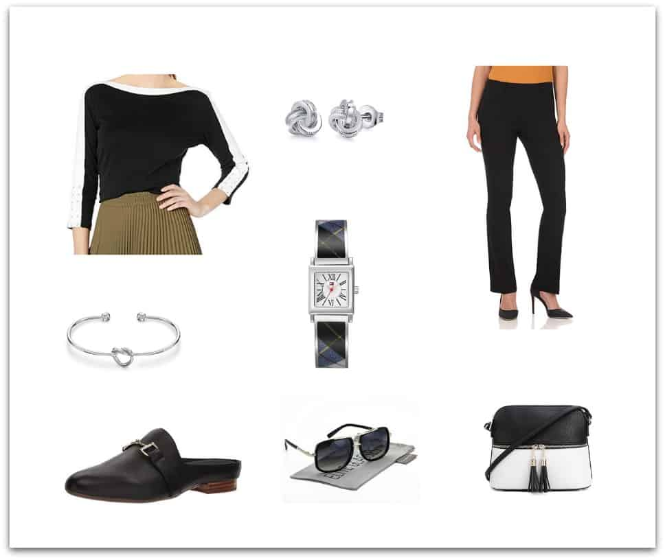cute casual neutral outfit for women over 50