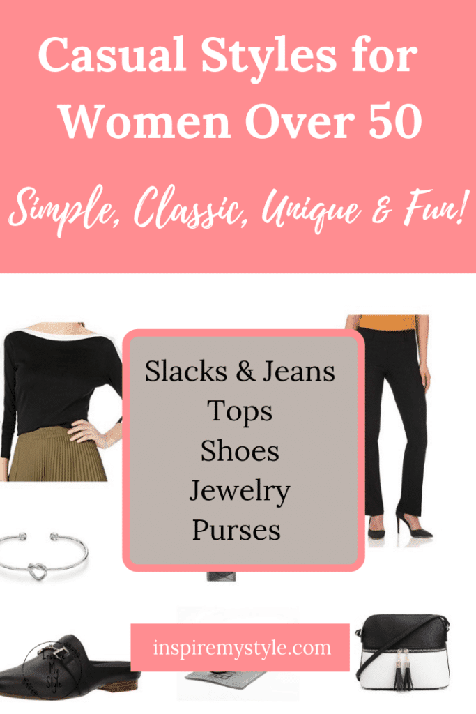 Casual styles for women over 50 and over 60