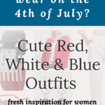 cute red white and blue outfits for women over 50 - 4th of July