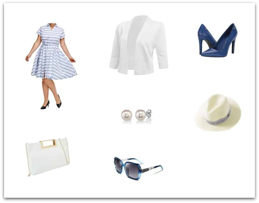 Dress it up with a blue  dress - casual fashion for women over 50