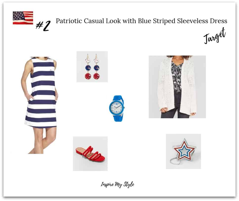 Casual 4th of July party look for women