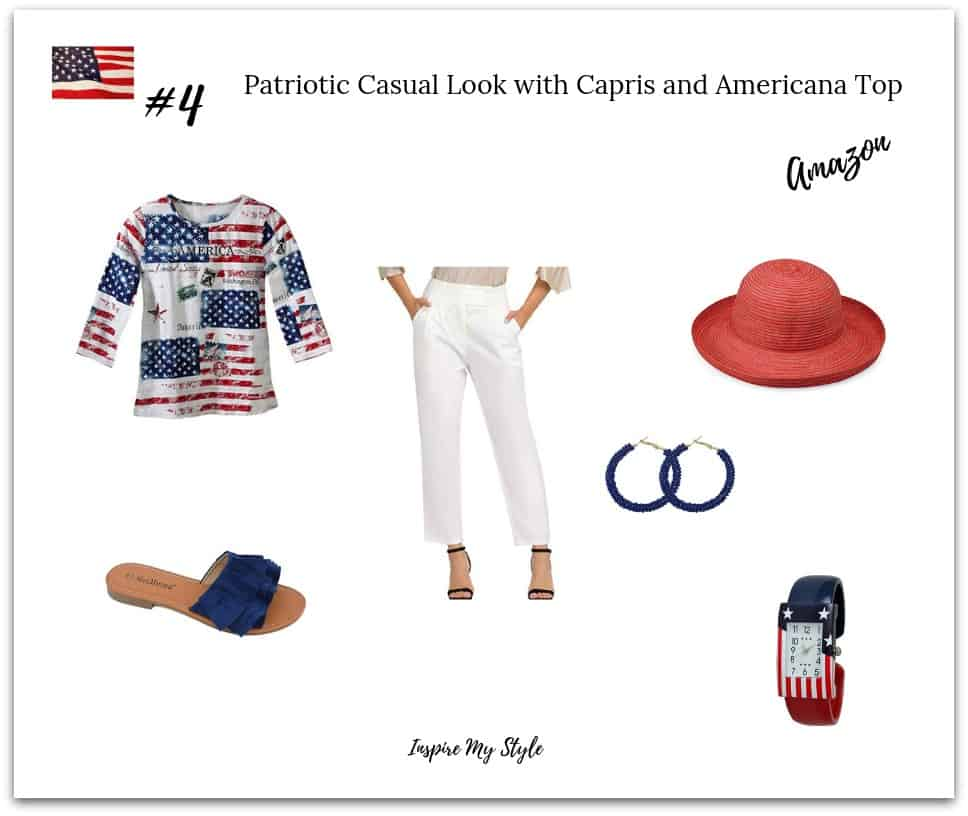 Cute red, white and blue 4th of July part outfit idea