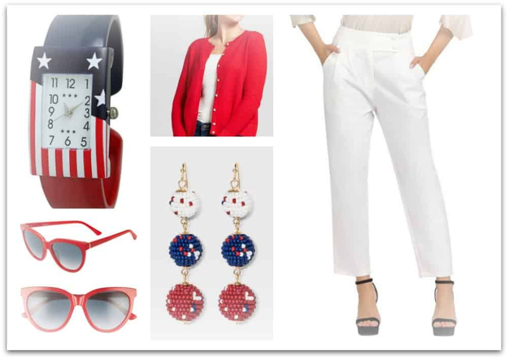 What to wear for the 4th of July - cute outfits for women in red, white and blue