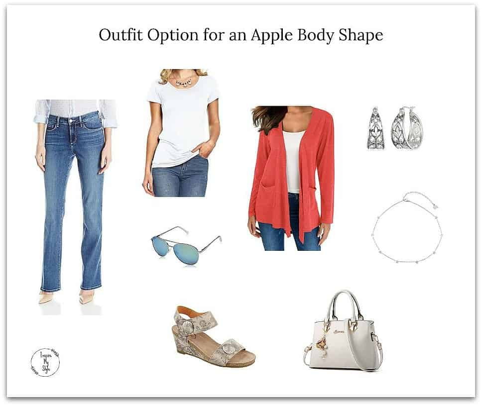 best style of dress for apple shape figure