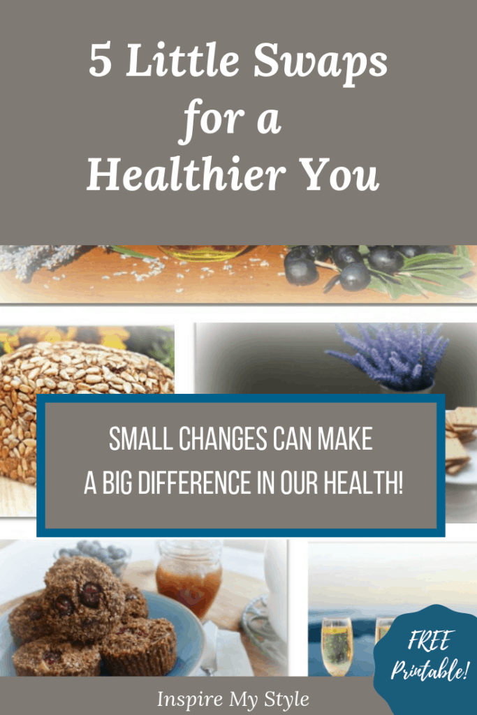 5 little swaps for a healthier you, because small changes can make a big difference in our health!