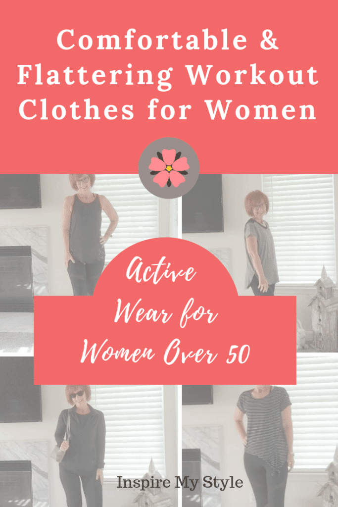 comfortable and flattering workout clothes for women over 50