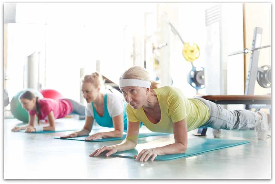 modified planks as strength training for women over 50