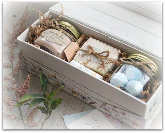 Natural Custom spa gift set